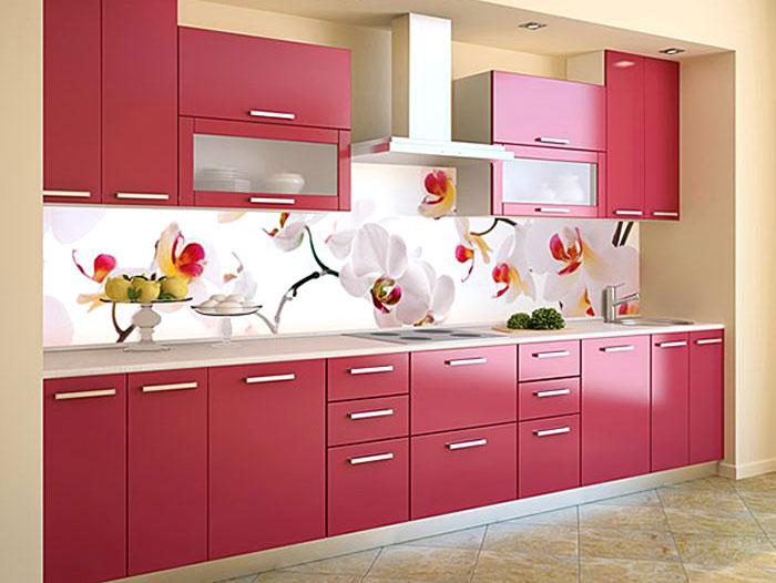 фото фартук для красной кухни