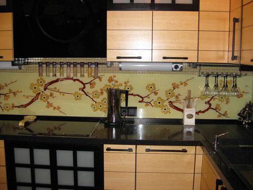 Панели на кухню узор