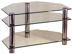 Стеклянная столик под телевизор